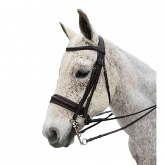Exselle Elite Plain Raised Padded Bridle with x Brow Brown