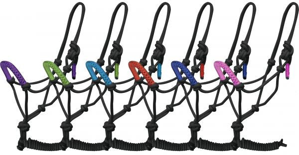 Showman Cowboy Knot Rope Halter with 7' Lead