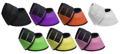 Showman ® No turn neoprene bell boots with double Velcro closure. Sold in pairs.