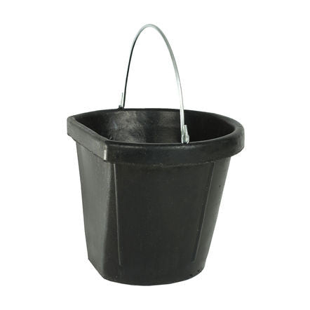 Horze Flat Back durable Rubber Bucket