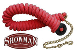 Showman ® 25' soft pro braided cotton line with brass chain and rubber hand stopper on end