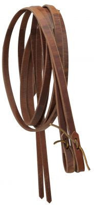 "1/2"" leather reins with water loop ends. 8 ft long."