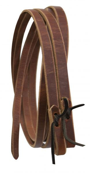 "1"" Leather reins with water loop ends. 8 ft long."