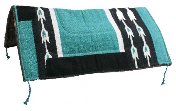 "32"" x 32"" Woven Acrylic Top Saddle Pad with Arrow Design and Felt Bottom."