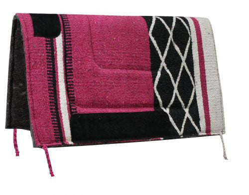 "30"" x 30"" Diamond Design Acrylic Top Saddle Pad with Felt Bottom."