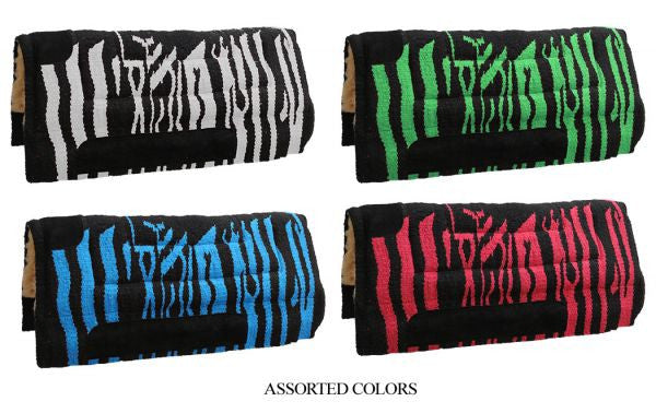 "32"" X 32"" Acrylic top cutter style saddle pad with fleece bottom. 8 pads per case."