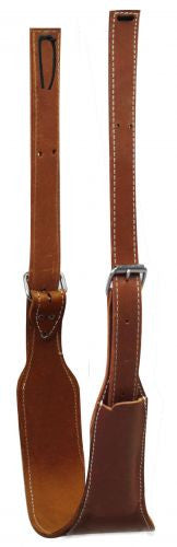 "American made 5 1/2"" wide oiled harness leather back cinch complete with roller buckles."