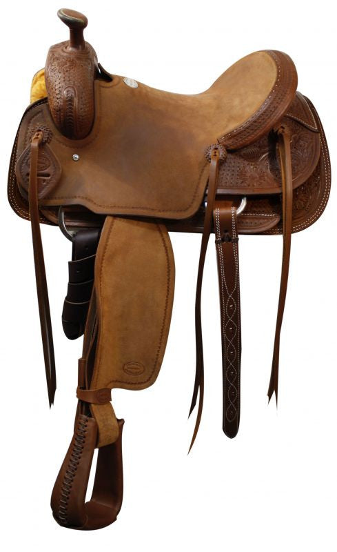 "16""  Showman ® Roper saddle."