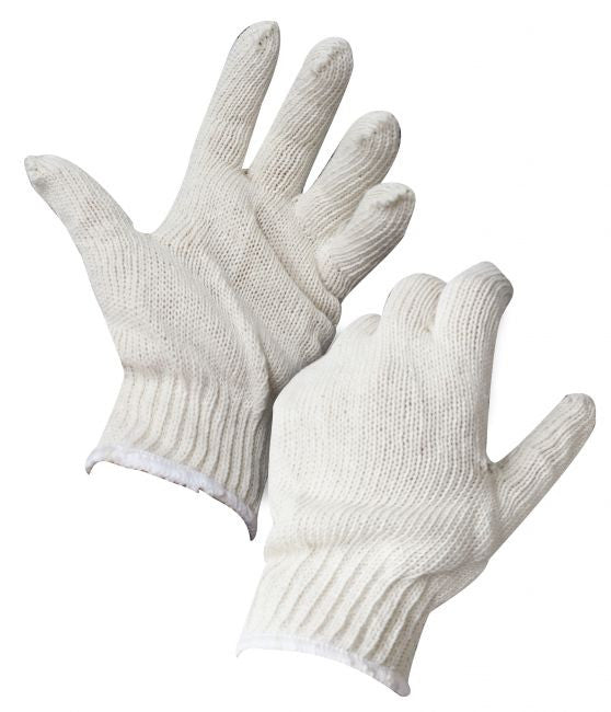 Adult size cotton roping gloves.  One size fits most.  Sold by the dozen.