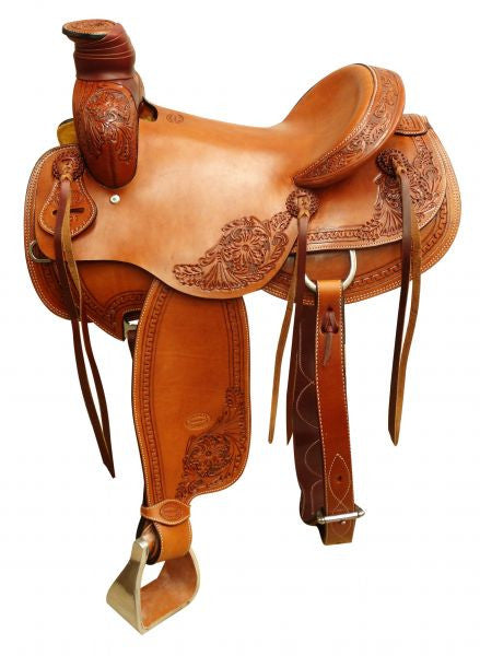"16"" Showman ® Argentina cow leather roper saddle."