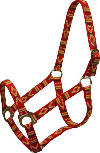 2 Ply Nylon Southwest Halter with Brass Hardware and Eyelets