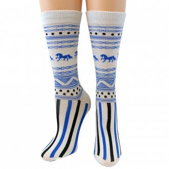 CoolMax Horse and Stripe Socks