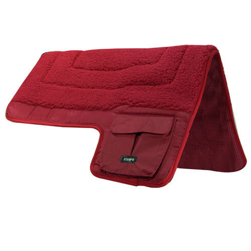 Western Fleece Non Slip Pocket Saddle Pad