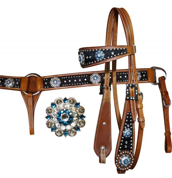 """COB 52/"""" inch BLACK LACED 5//8/"""" wide SHOW REINS HERITAGE ENGLISH MADE LEATHER"""