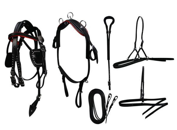 Mini Horse / Small Pony Leather Show Harness Set