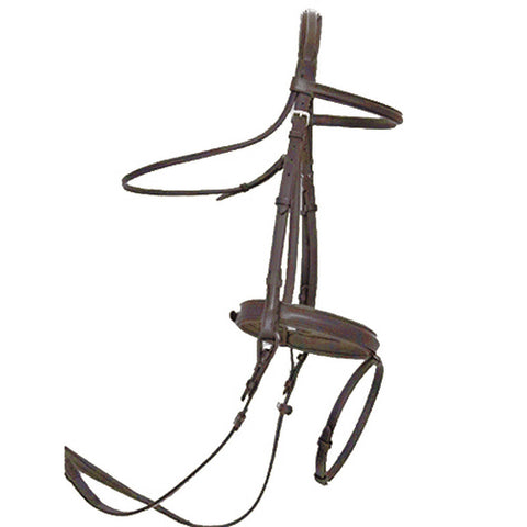 ThinLine Dressage Bridle with Flash Noseband Dark Brown