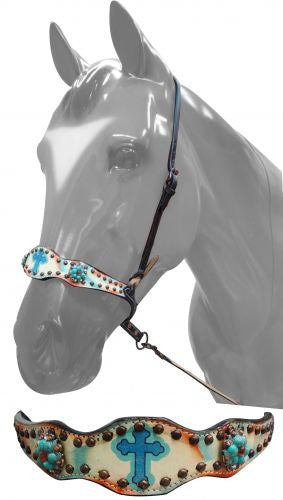Showman ® hand painted noseband with Celtic cross.