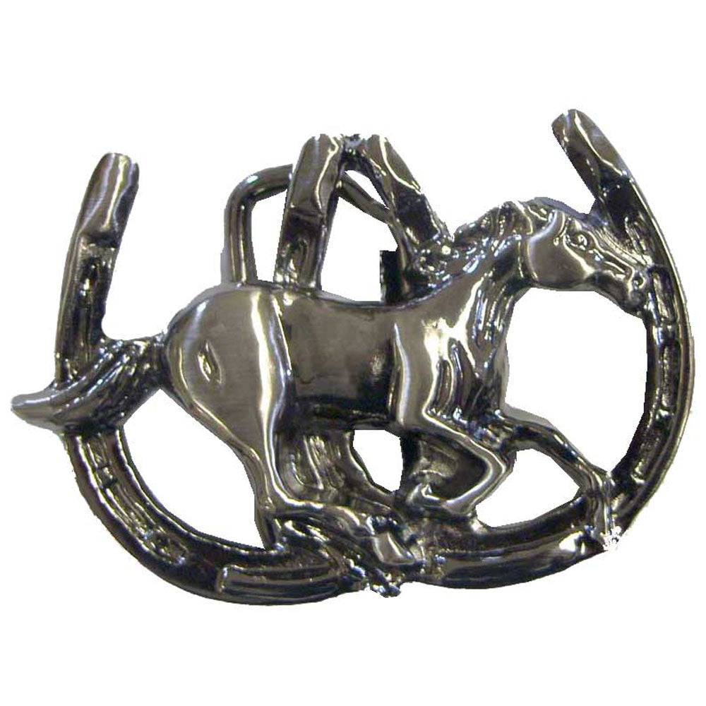 WOW Double Horse Shoe with Running Horse Buckle