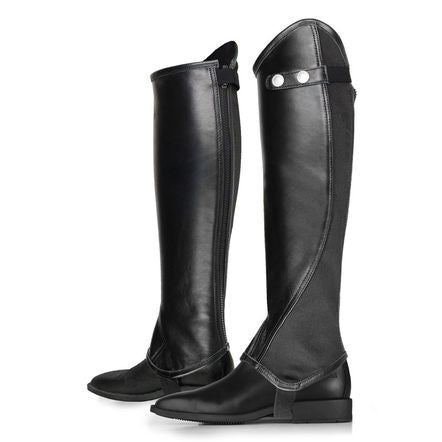 Horze Calf Leather Chaps With Wide Elastic