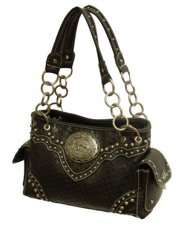 Montana West ® Praying cowboy concho handbag.