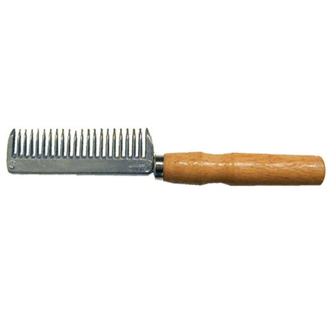 Aluminum Pulling Comb w/Wood Handle
