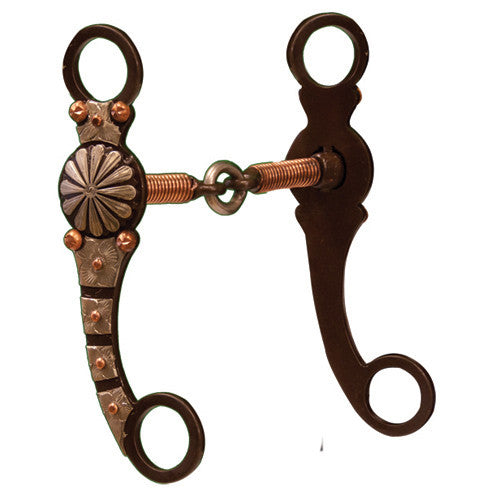 Antiqued Show Snaffle w/Copper Wire GS Engraving
