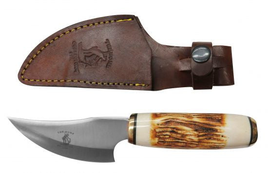 "The Bone Collector™ 9.25"" Fixed blade knife with bone handle"