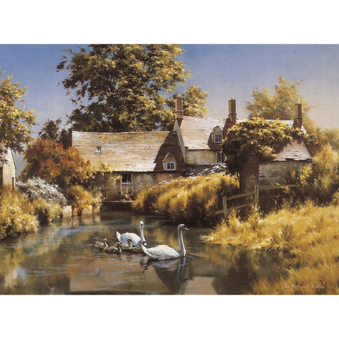 Greeting Cards - Old Water Mill (Swans) - 6 pack