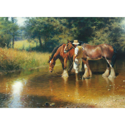 Horses - Noon Time Watering - 6 pack