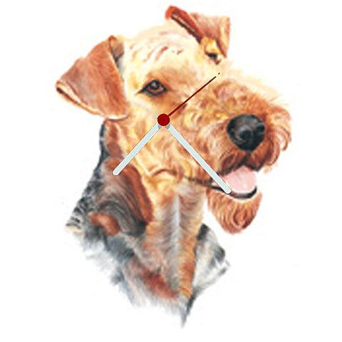 Airedale Head Shaped Clock
