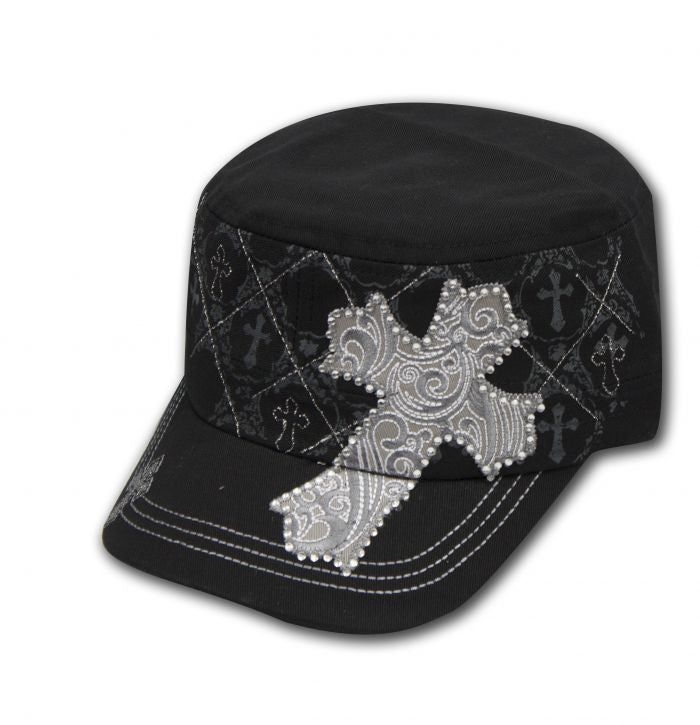 2bf4bc01200370 Showman Couture ™ Juniors Military Cargo Style Hat With Western Beaded –  Dark Horse Tack Company