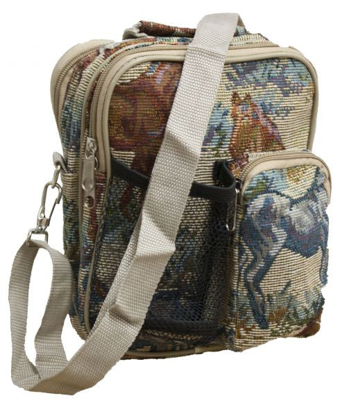 Horse embroidered messenger bag