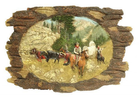 "Montana West ® 14"" X 9"" Cowboy's trail ride wall plaque."