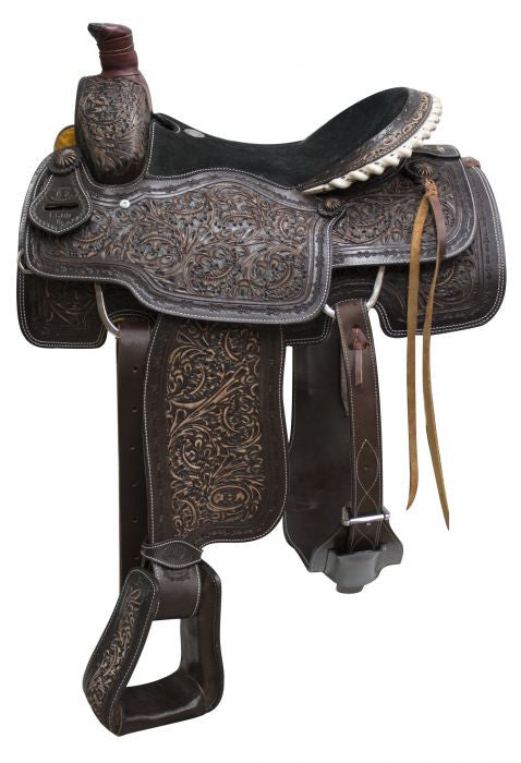 "16"" Circle S Roper Saddle with antiqued tooling ."