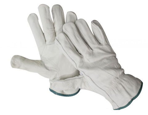 Adult medium size leather riding gloves. Sold in pairs.