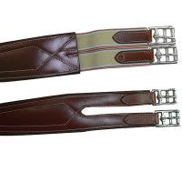 Exselle Elite Overlay Padded Shaped Girth Brown