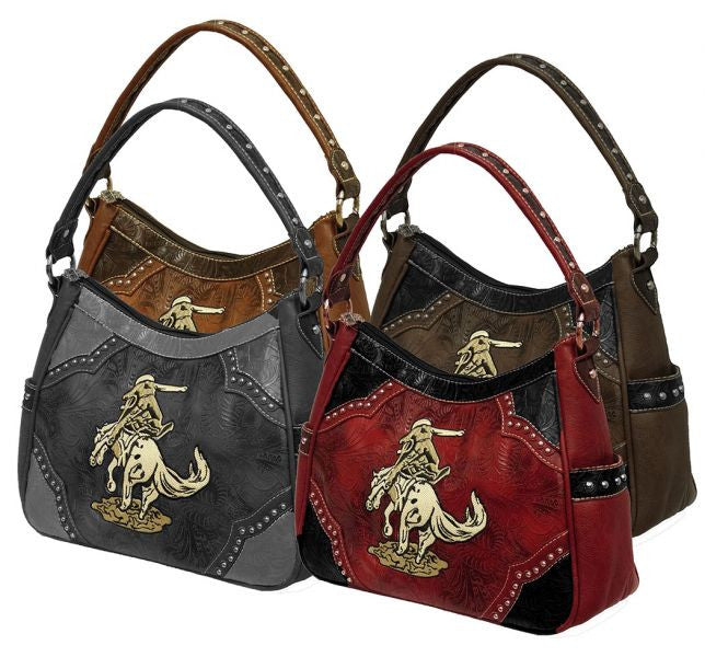 Montana West ® Horse and rider embroidered purse.