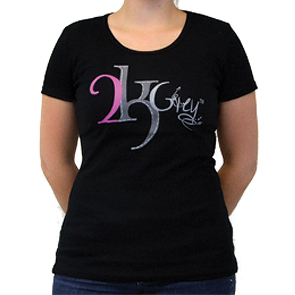 2kGrey Ladies Logo Tee Shirt Black