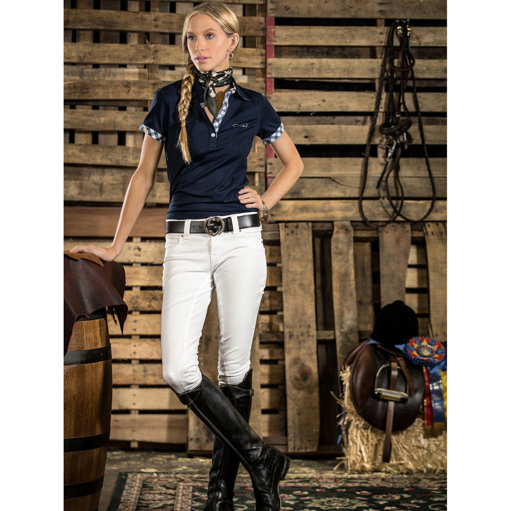 2kGrey Ladies PAS OP Knee Patch Breech