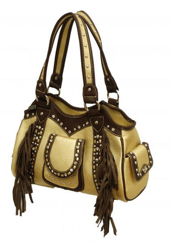 """Montana West ® Fringe collection handbag made of PU leather. """