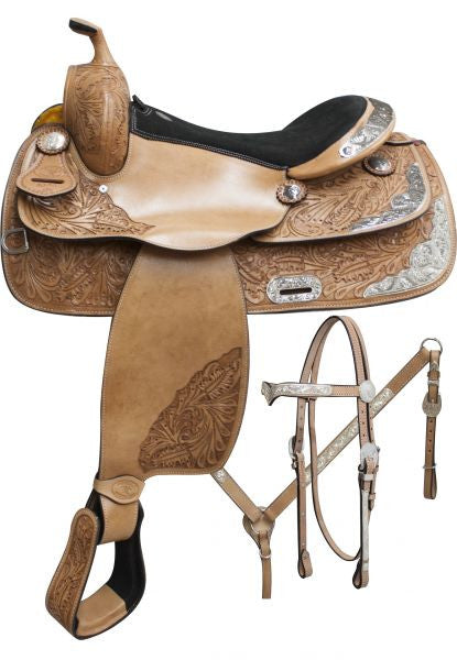 "16"" Semi-tooled Double T Show saddle set."