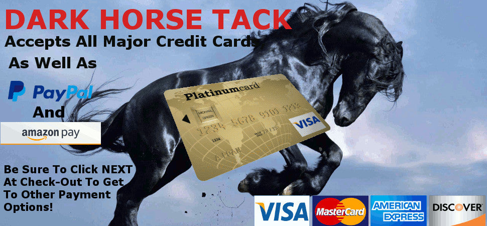 Dark Horse Accepts All Credit Cards!