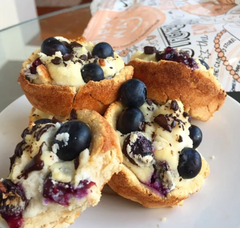 Blueberry cheesecake in a high protein diet