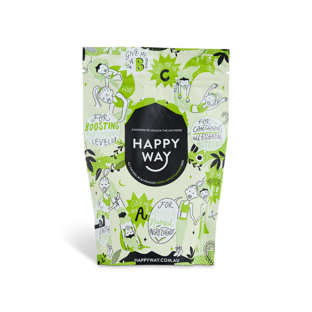 BCAA Powder - Green Apple Flavour (300g),BCAA,Happy Way,Happy Way