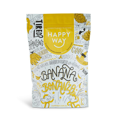 Banana Bonanza whey protein powder 500g,Protein,Happy Way,Happy Way