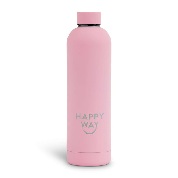 Pink Matte Drink Bottle 750ml,Drink Bottle,Merchandise,Happy Way