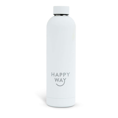 White Matte Drink Bottle 750ml,Drink Bottle,Merchandise,Happy Way