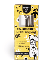 Stainless Steel Straws – 4 Pack