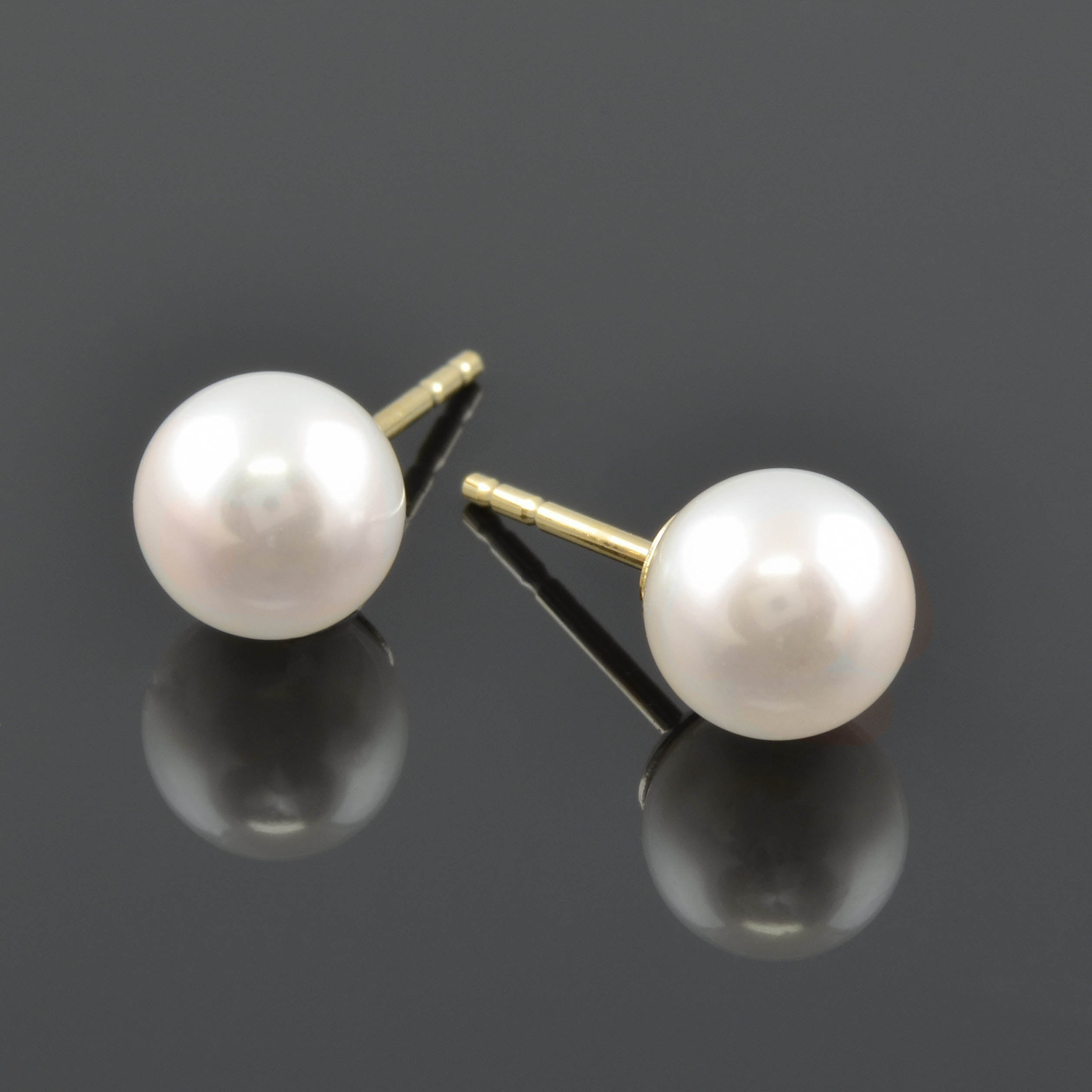 cooper product gold white binkley earrings tahitian pearl stud real
