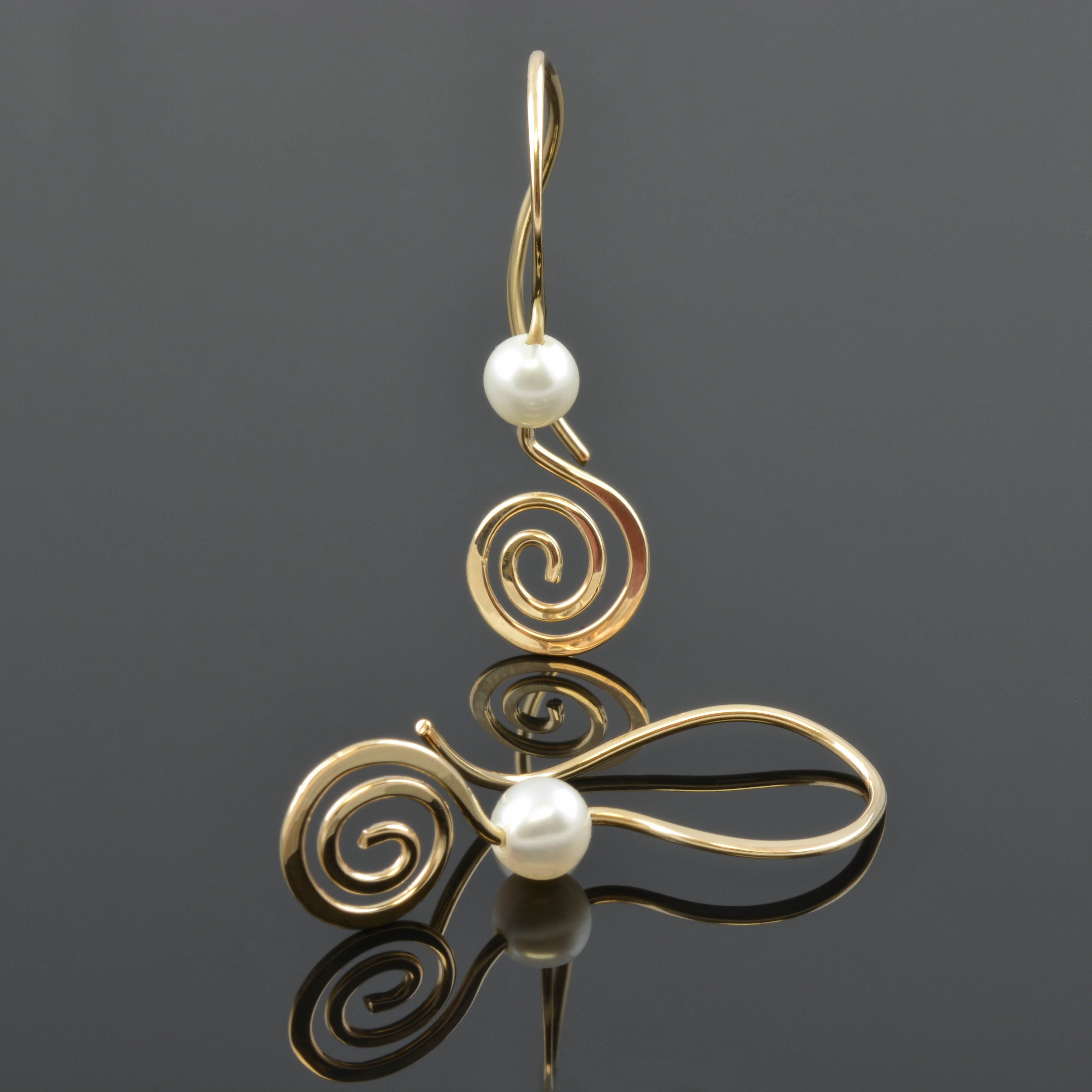 and handmade curl filled coil products jewelers gold earrings plante